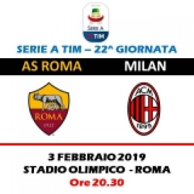 AS ROMA - AC MILAN              SERIE A TIM