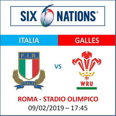 ITALIA VS GALLES - RUGBY SIX NATIONS